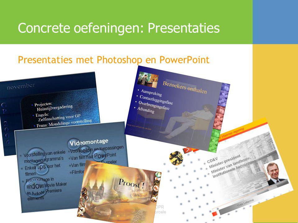 Concrete oefeningen: Presentaties