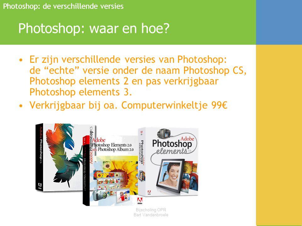 Photoshop: de verschillende versies
