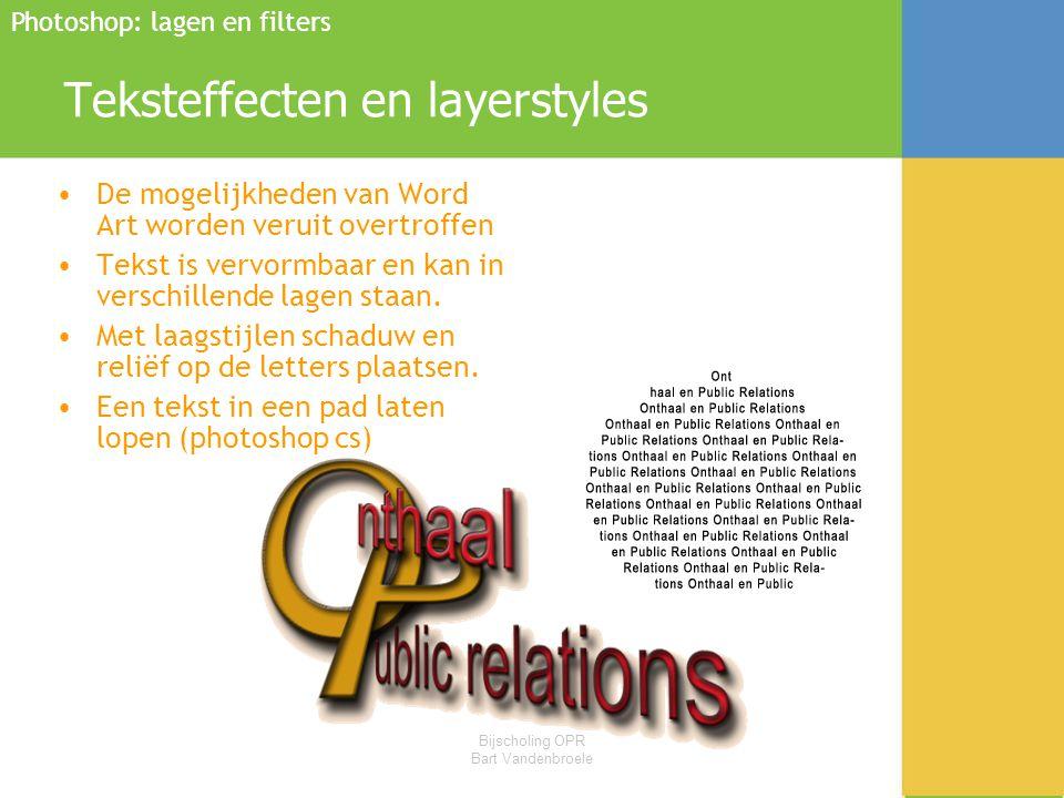 Teksteffecten en layerstyles