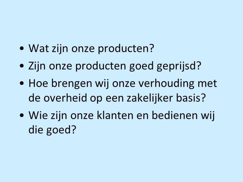 Wat zijn onze producten