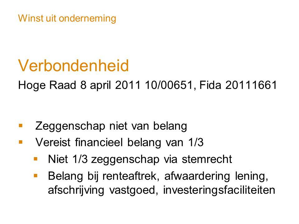 Verbondenheid Hoge Raad 8 april 2011 10/00651, Fida 20111661