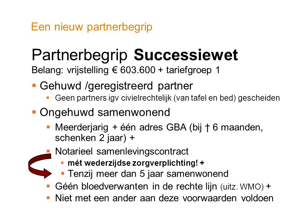 Een nieuw partnerbegrip