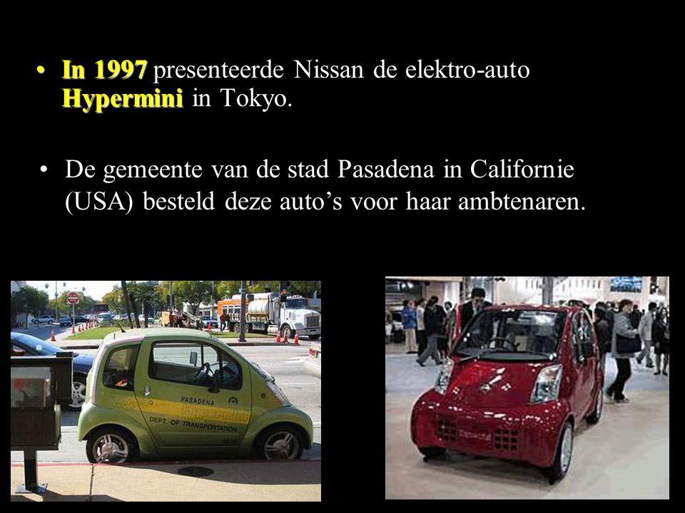 In 1997 presenteerde Nissan de elektro-auto Hypermini in Tokyo.