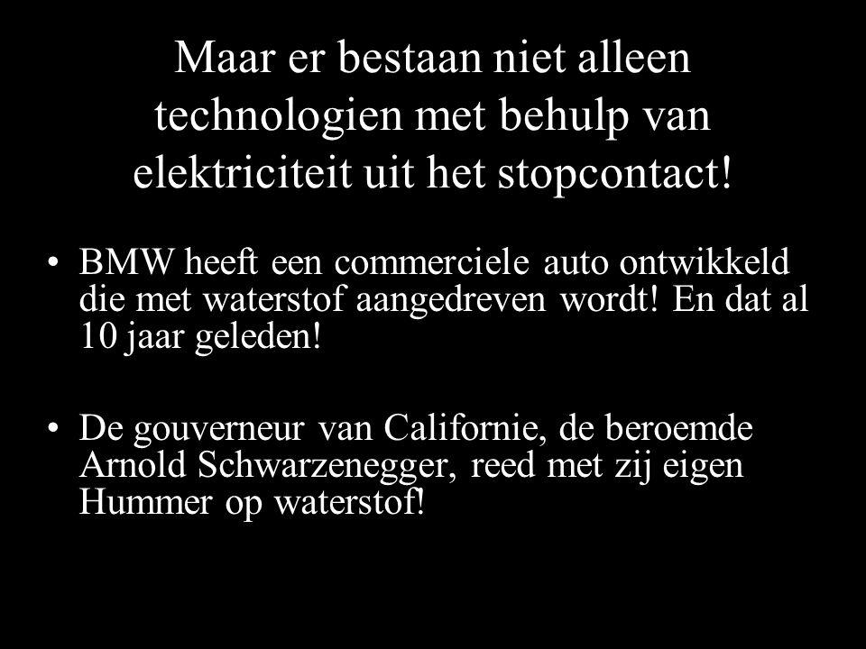 Maar er bestaan niet alleen technologien met behulp van elektriciteit uit het stopcontact!