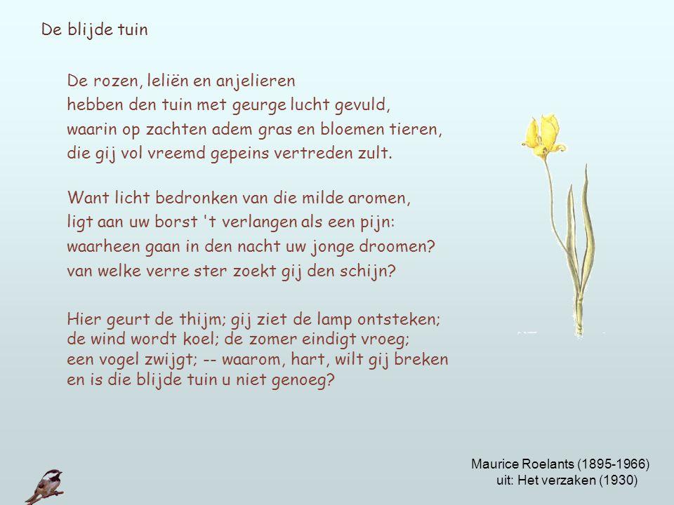 De rozen, leliën en anjelieren