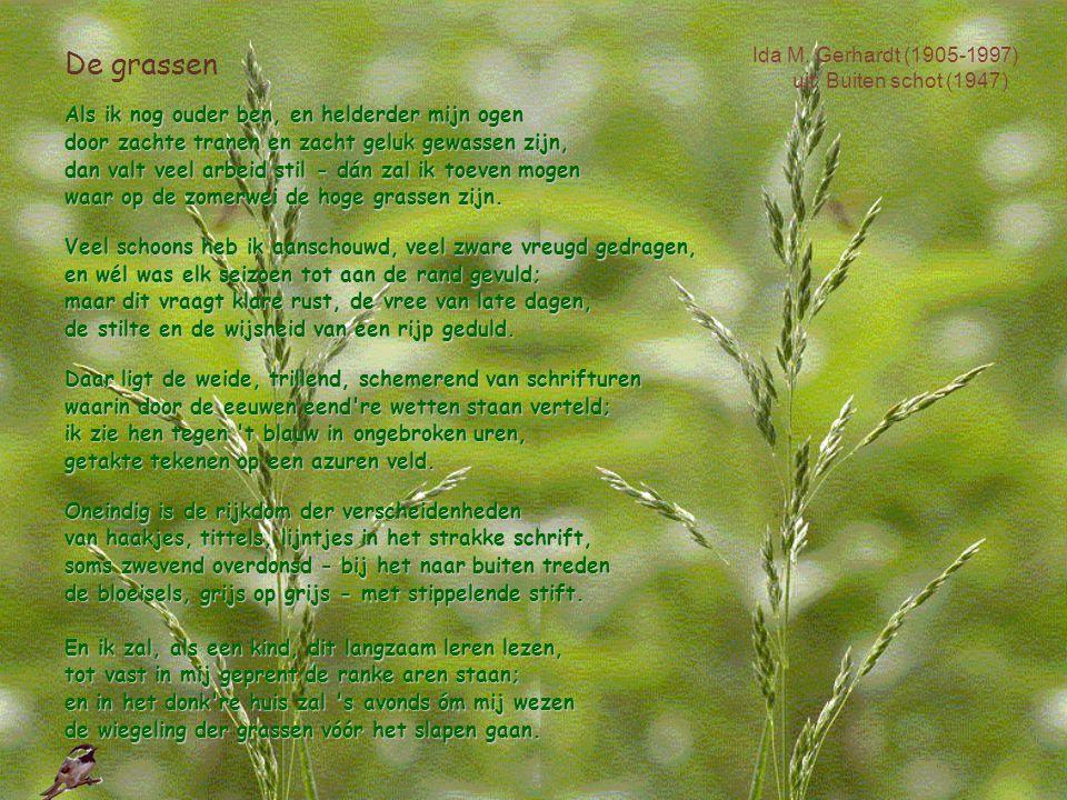 De grassen Ida M. Gerhardt (1905-1997) uit: Buiten schot (1947)