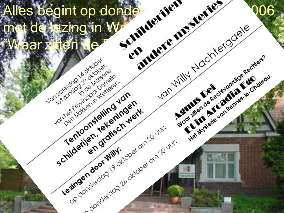 Alles begint op donderdag 19 oktober 2006 met de lezing in Wetteren : Waar zitten de Rechtvaardige Rechters