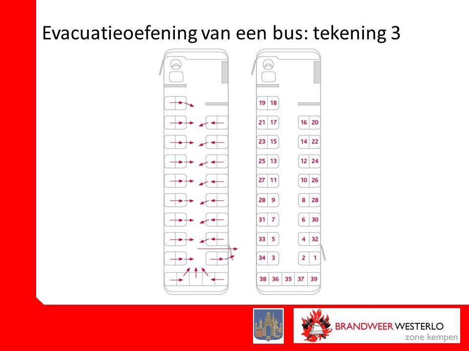 Evacuatieoefening van een bus: tekening 3