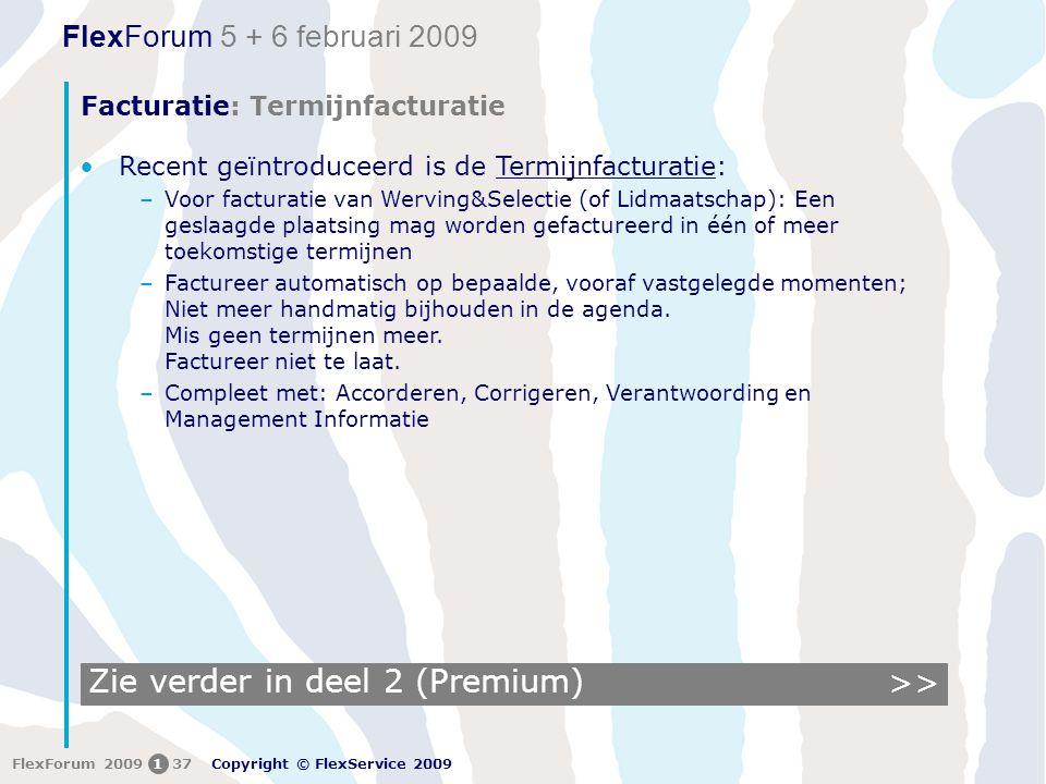 Facturatie: Termijnfacturatie