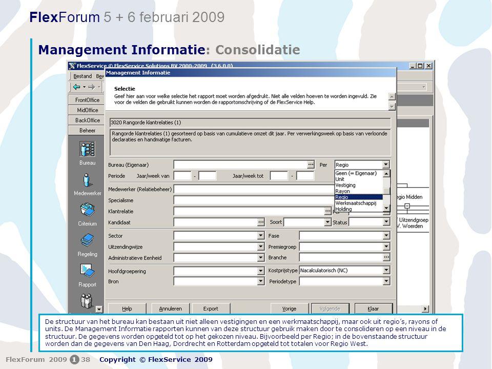 Management Informatie: Consolidatie