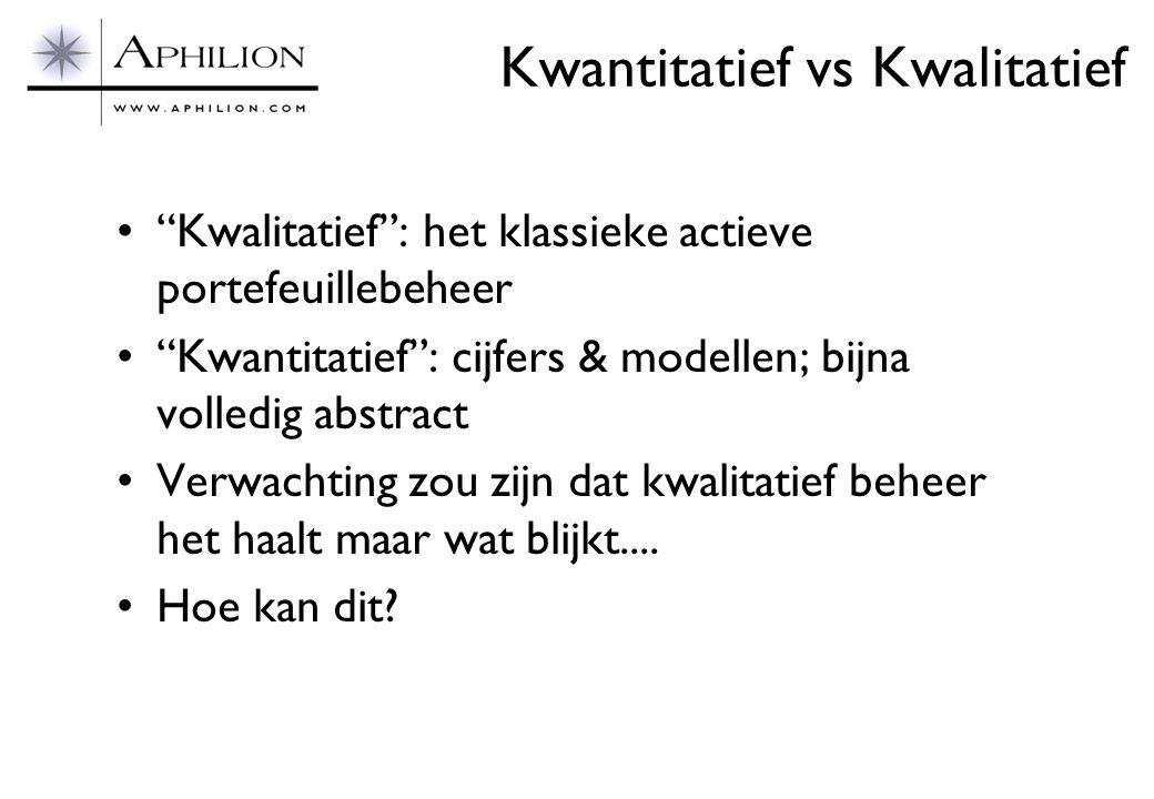 Kwantitatief vs Kwalitatief