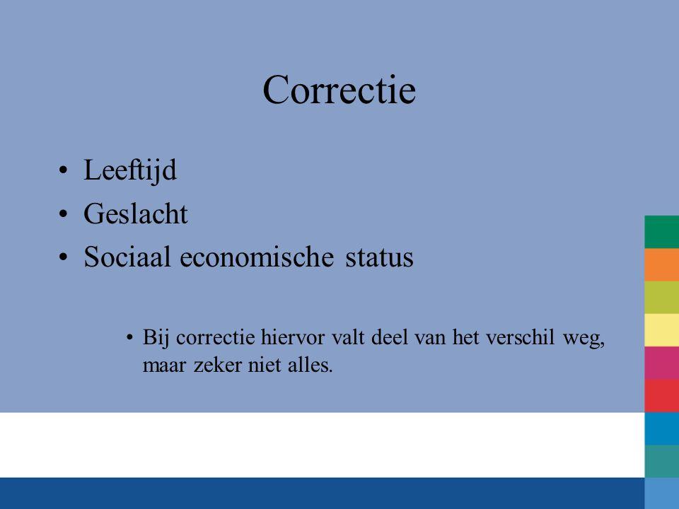 Correctie Leeftijd Geslacht Sociaal economische status