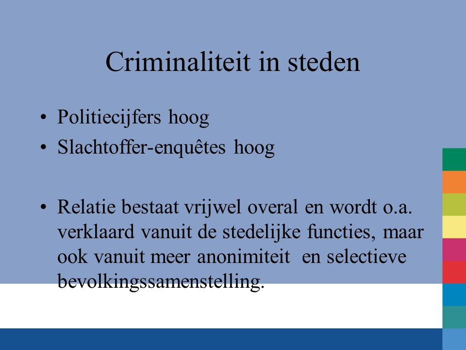 Criminaliteit in steden