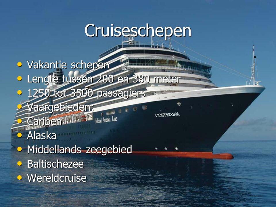 Cruiseschepen Vakantie schepen Lengte tussen 200 en 380 meter