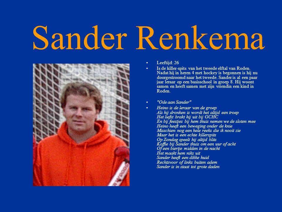 Sander Renkema Leeftijd: 26