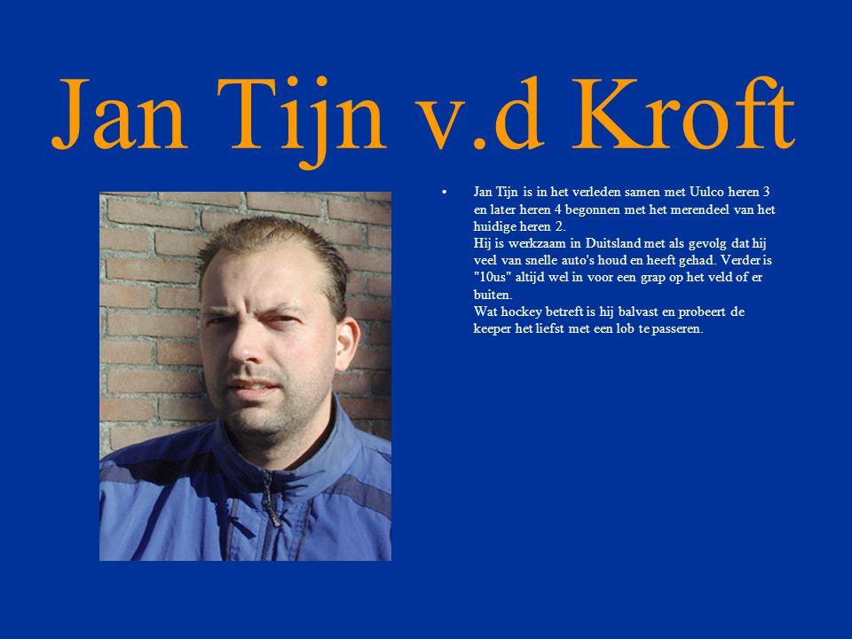 Jan Tijn v.d Kroft