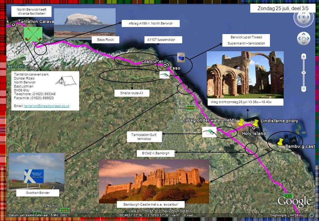 Zondag 25 juli, deel 3/5 North Berwick heeft diverse faciliteiten
