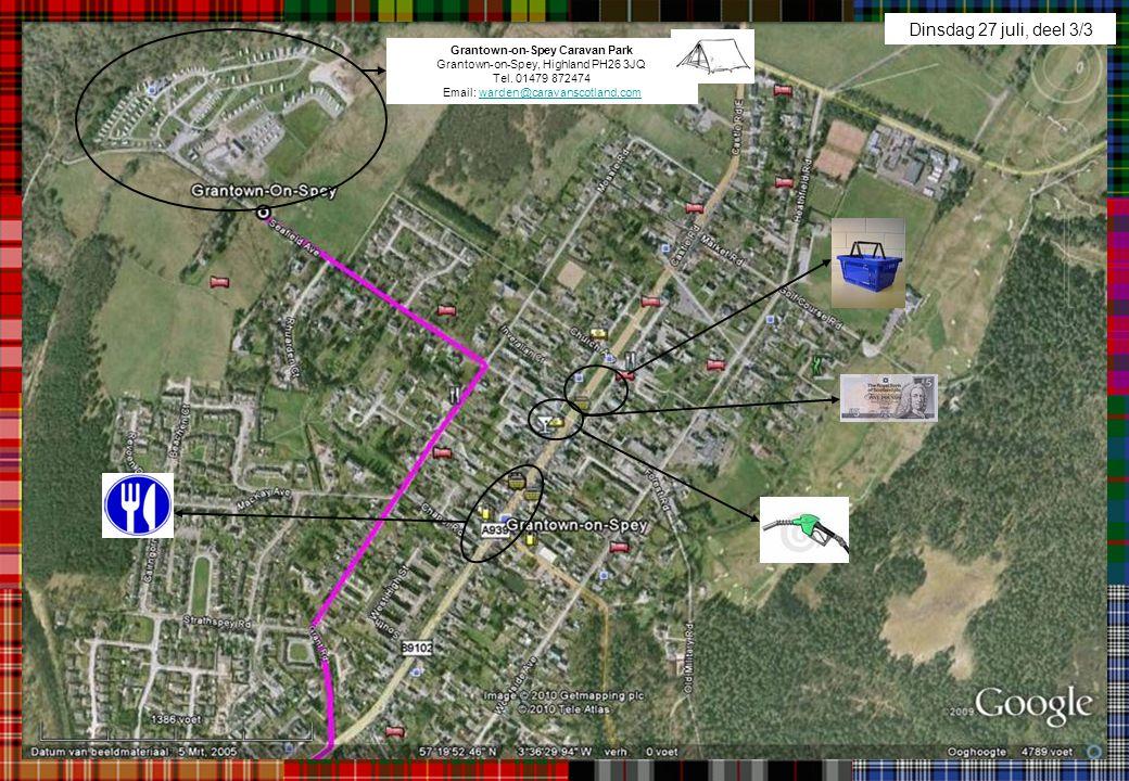 Dinsdag 27 juli, deel 3/3 Grantown-on-Spey Caravan Park Grantown-on-Spey, Highland PH26 3JQ Tel.
