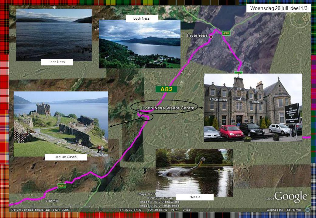 Woensdag 28 juli, deel 1/3 Loch Ness Loch Ness Urquart Castle Nessie