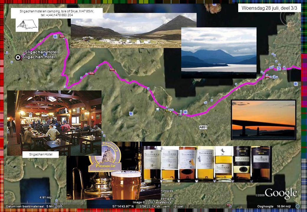 Woensdag 28 juli, deel 3/3 Sligachan hotel en camping, Isle of Skye, IV47 8SW, tel: +(44)1478 650 204.