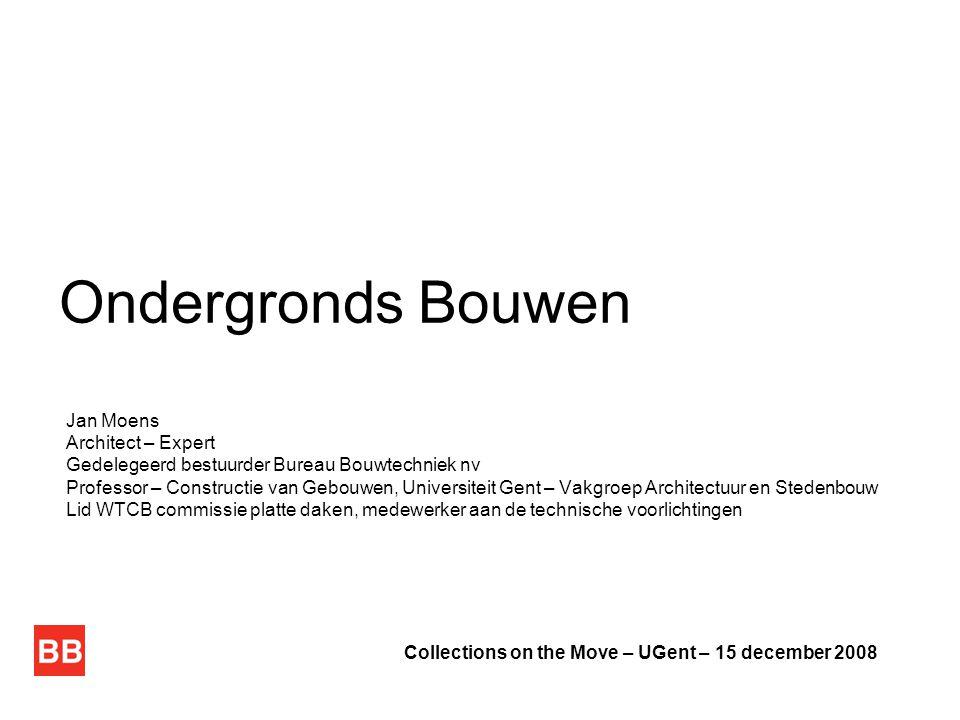 Ondergronds Bouwen Jan Moens Architect – Expert