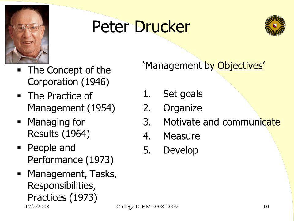 Peter Drucker 'Management by Objectives'