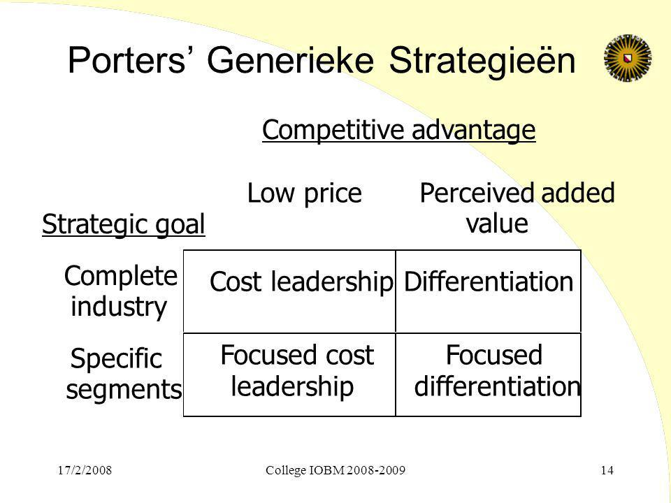 Porters' Generieke Strategieën
