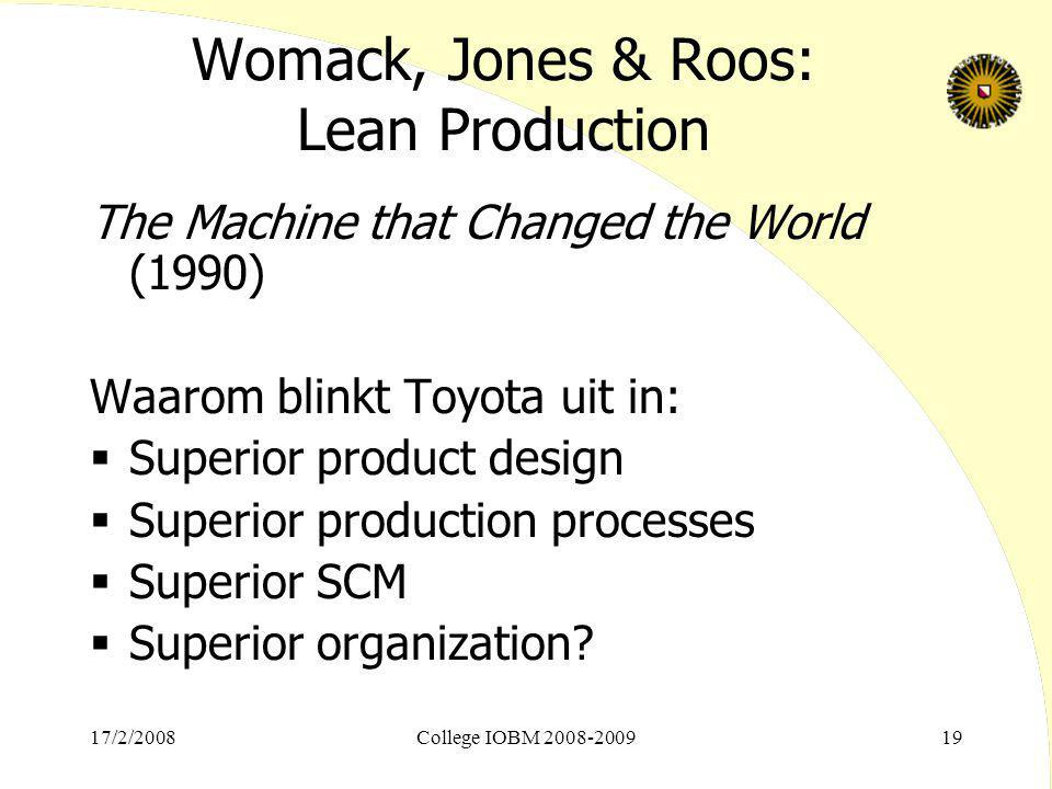 Womack, Jones & Roos: Lean Production