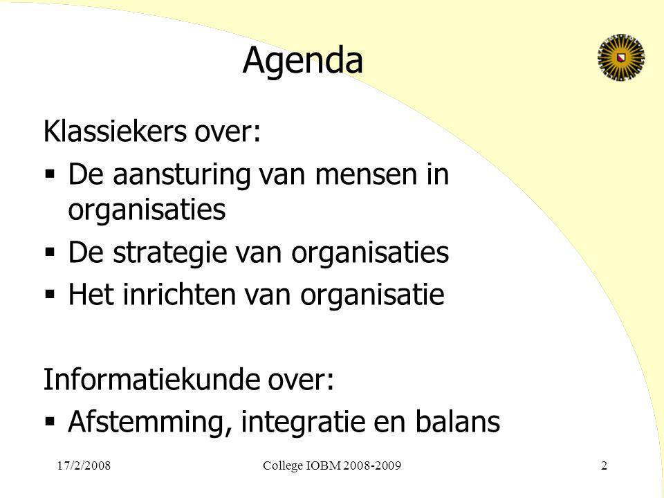 Agenda Klassiekers over: De aansturing van mensen in organisaties