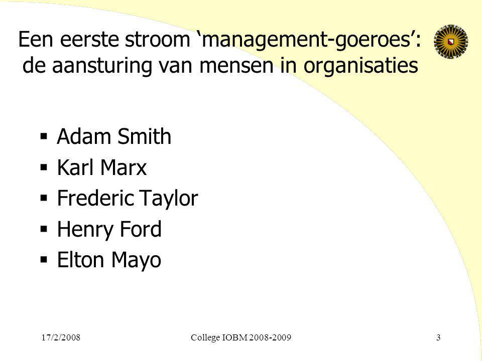 Een eerste stroom 'management-goeroes': de aansturing van mensen in organisaties