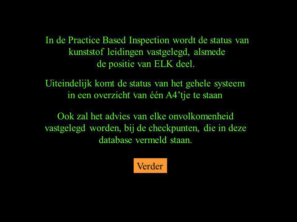 In de Practice Based Inspection wordt de status van
