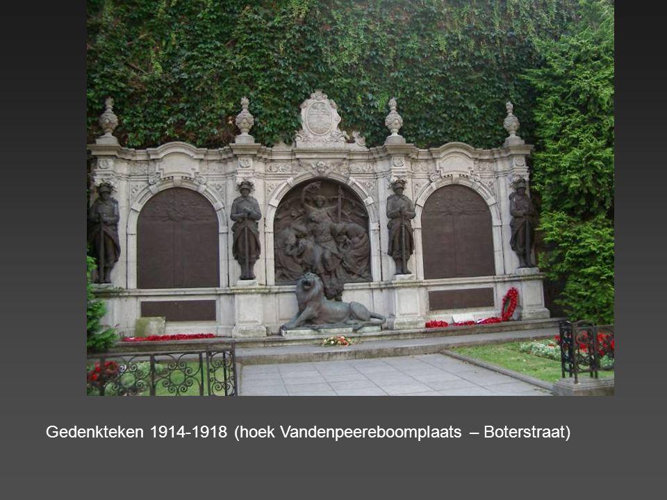 Gedenkteken 1914-1918 (hoek Vandenpeereboomplaats – Boterstraat)