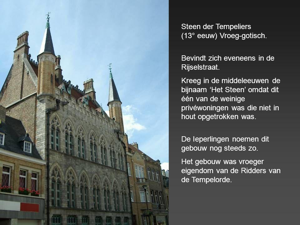 Steen der Tempeliers (13° eeuw) Vroeg-gotisch.
