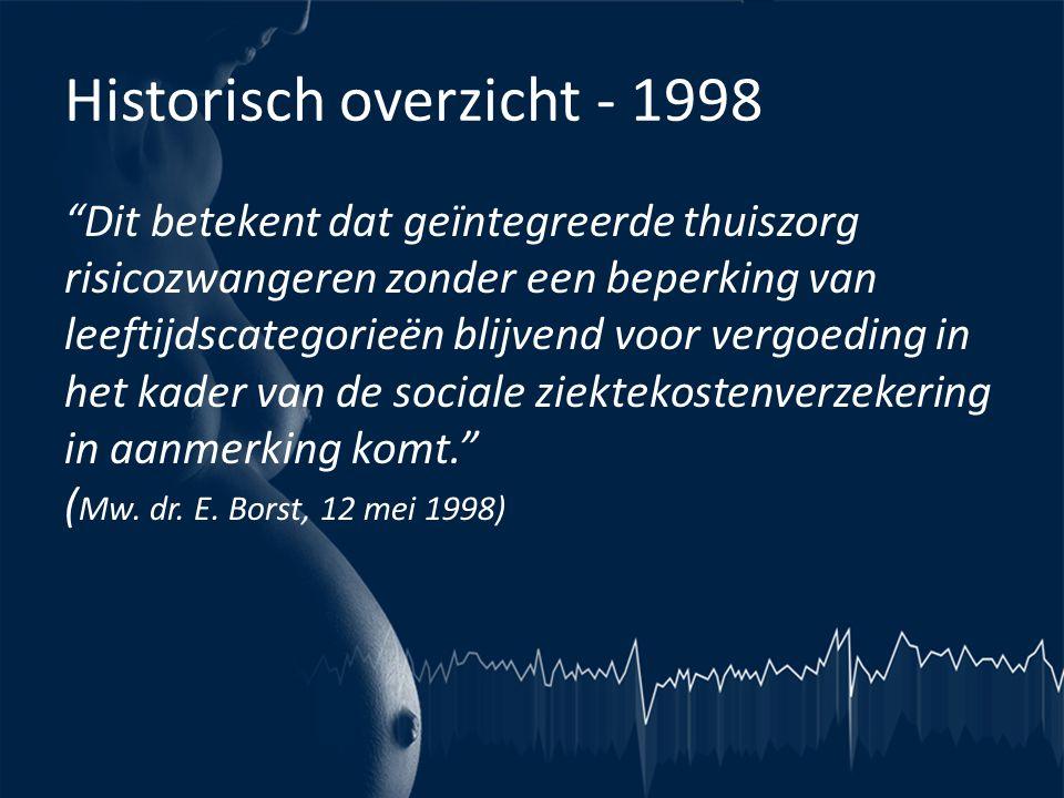 Historisch overzicht - 1998