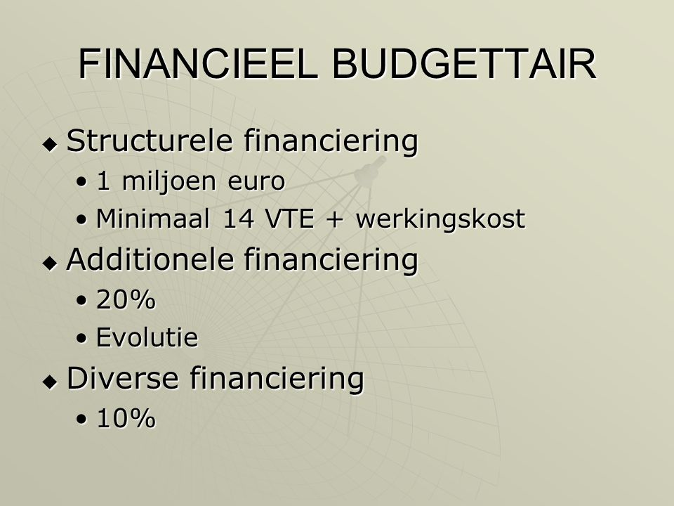 FINANCIEEL BUDGETTAIR