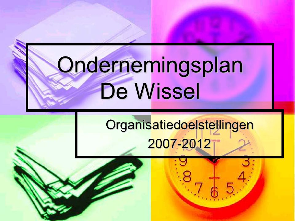 Ondernemingsplan De Wissel