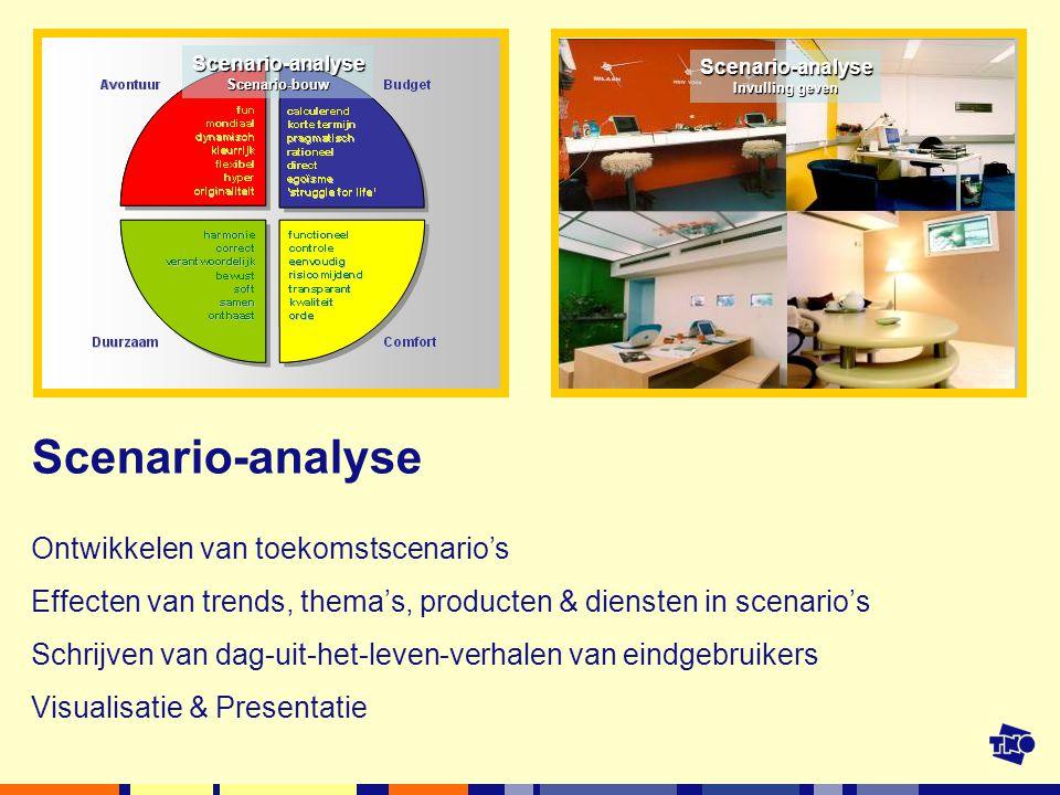 Scenario-analyse Ontwikkelen van toekomstscenario's