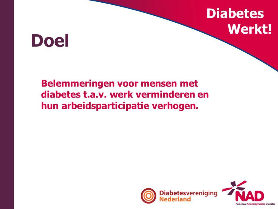 Doel Diabetes Werkt! Belemmeringen voor mensen met