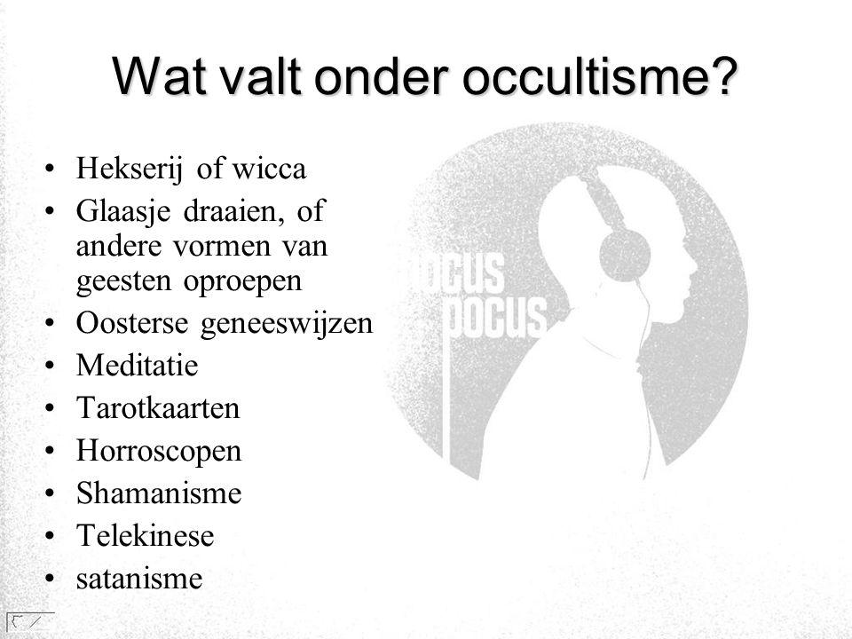 Wat valt onder occultisme