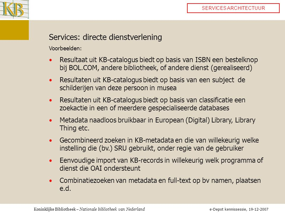 Services: directe dienstverlening