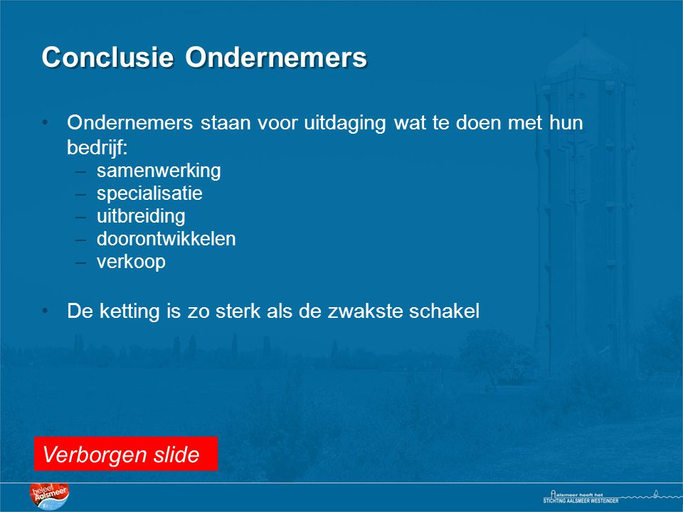 Conclusie Ondernemers