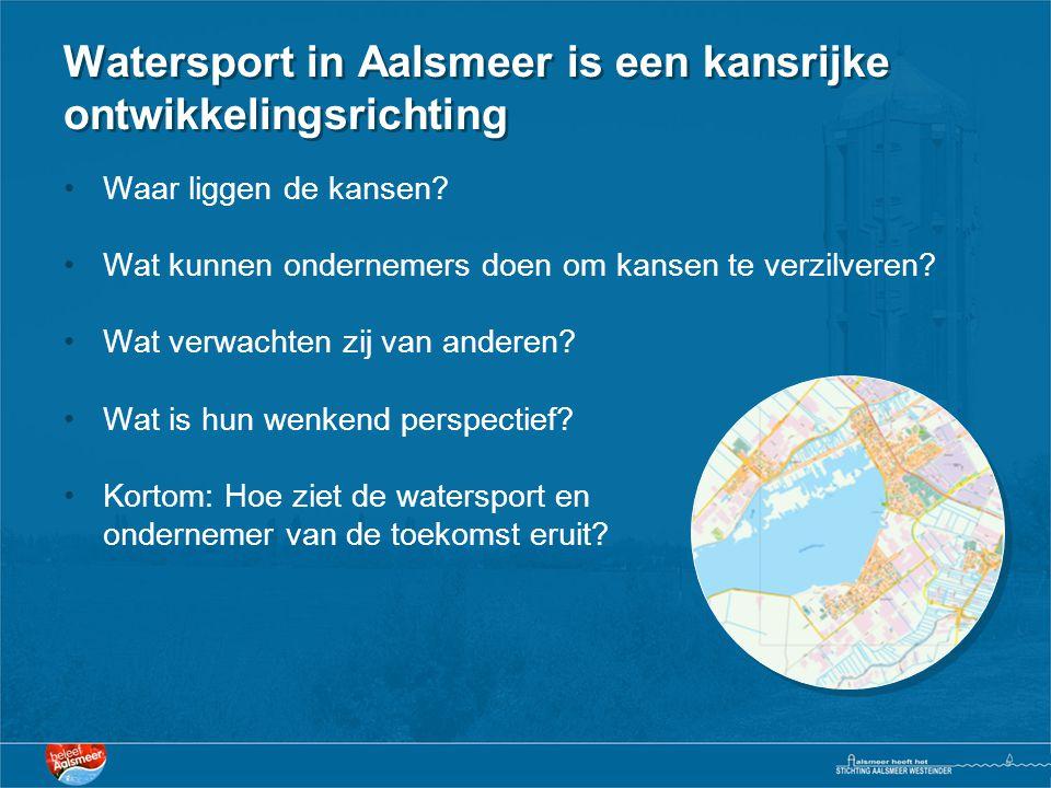 Watersport in Aalsmeer is een kansrijke ontwikkelingsrichting