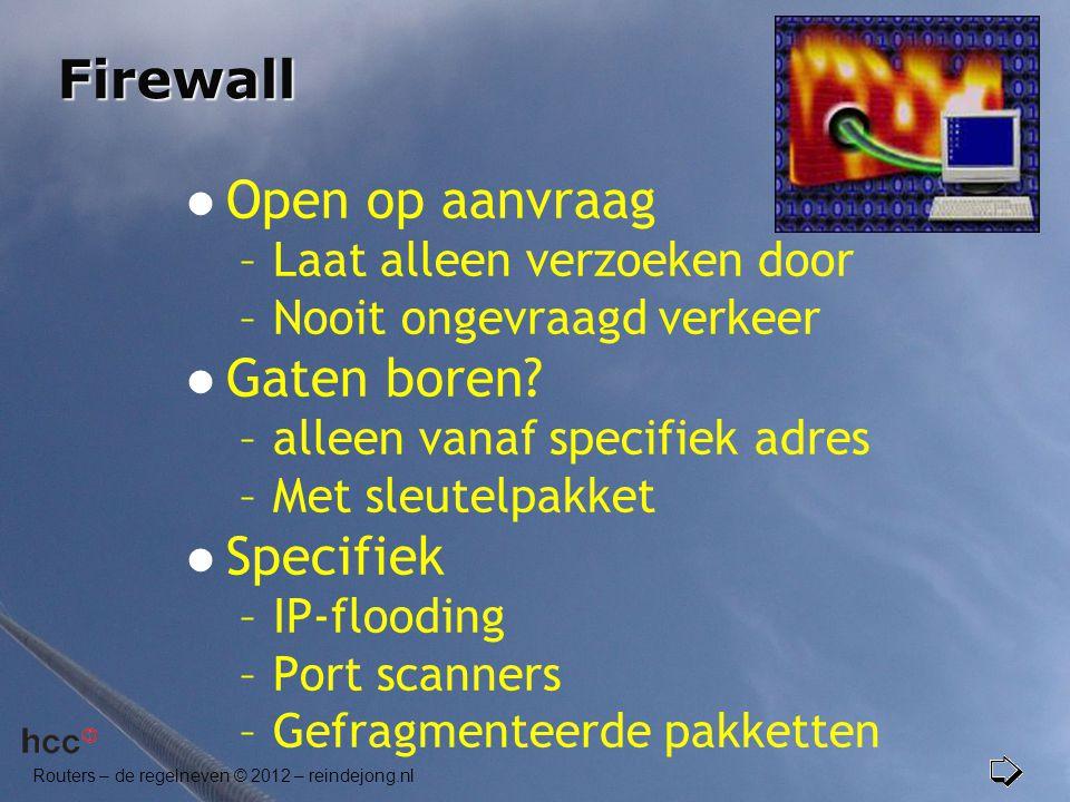 Firewall Open op aanvraag Gaten boren Specifiek