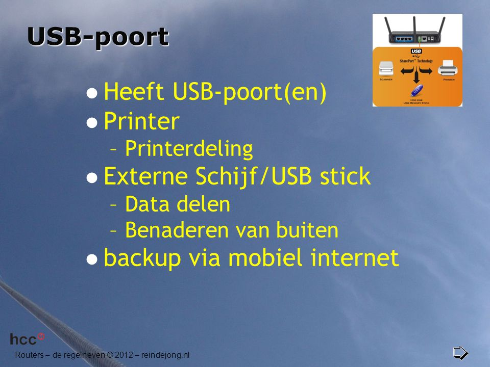 Externe Schijf/USB stick