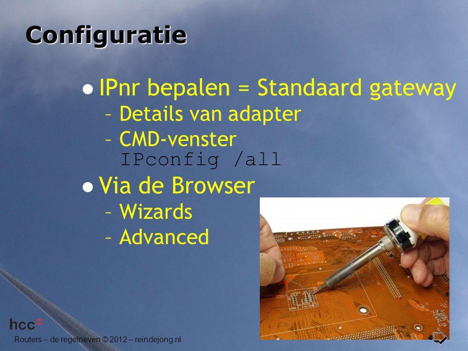 IPnr bepalen = Standaard gateway