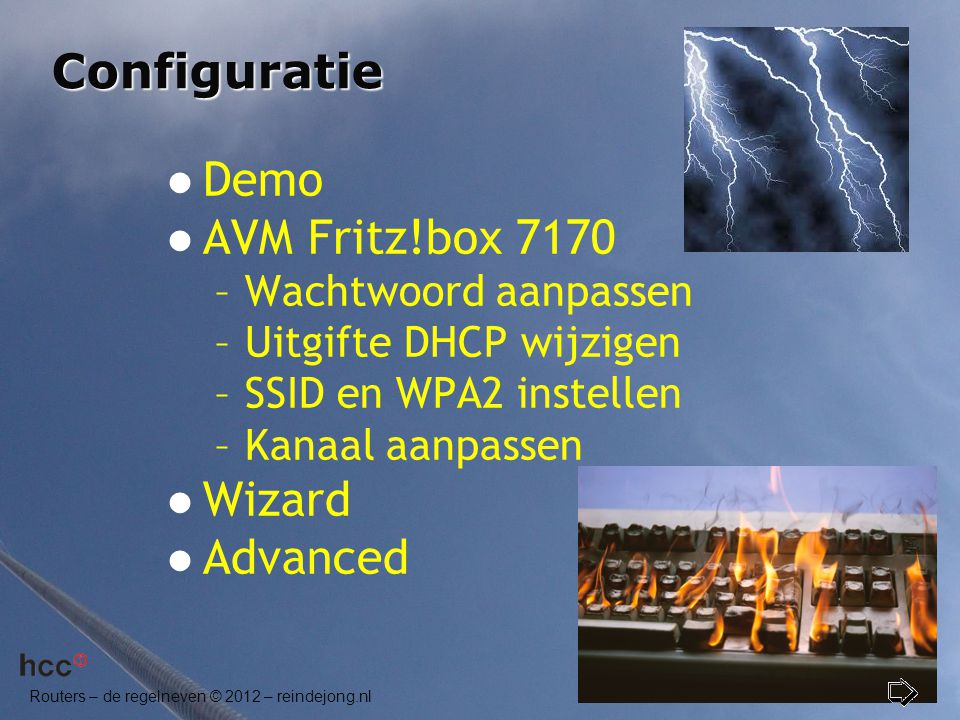 Configuratie Demo AVM Fritz!box 7170 Wizard Advanced