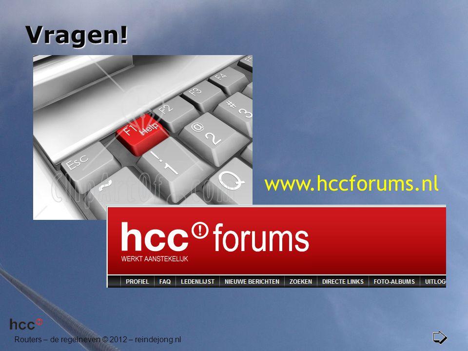 Vragen! www.hccforums.nl