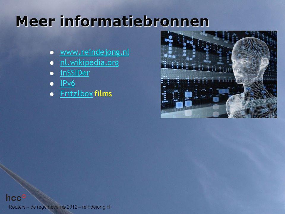 Meer informatiebronnen