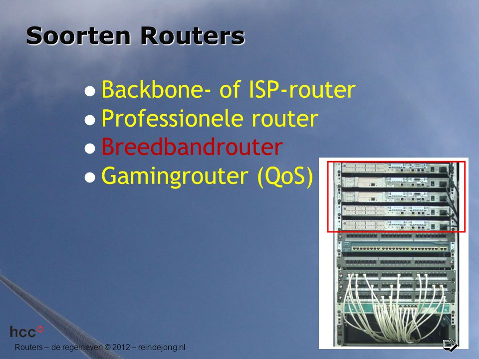 Backbone- of ISP-router Professionele router Breedbandrouter