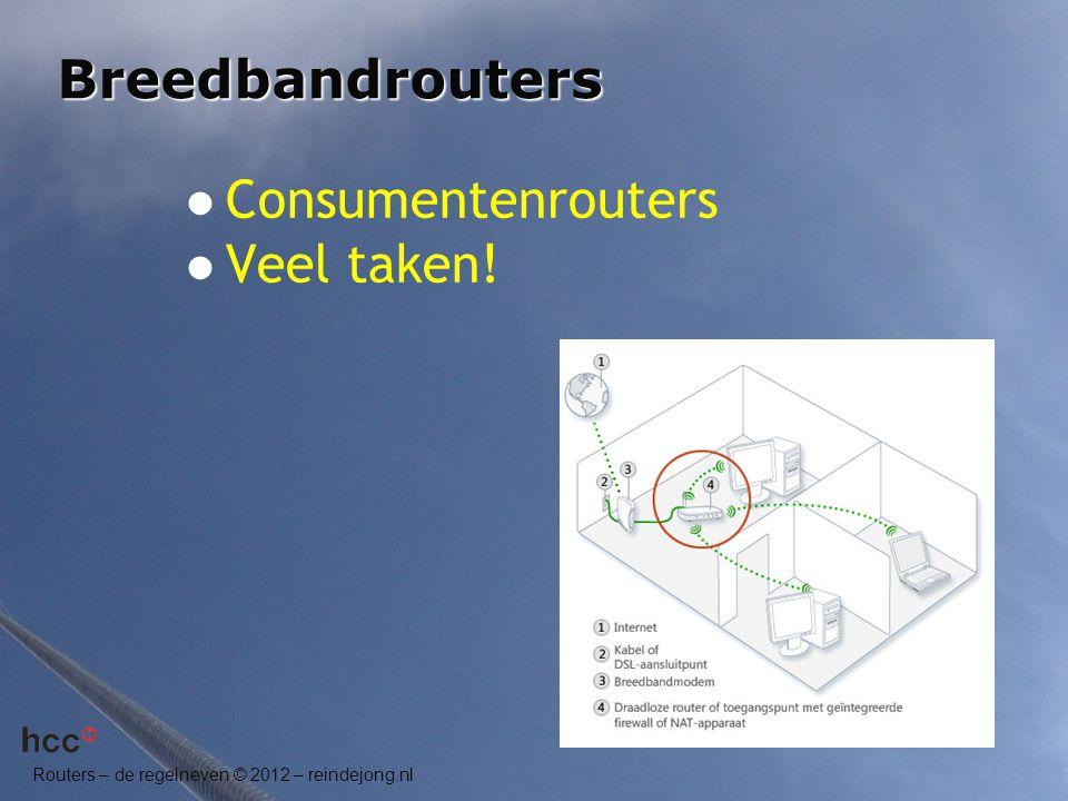 Breedbandrouters Consumentenrouters Veel taken!
